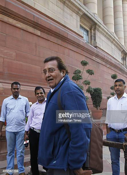 Vinod Khanna during winter session of Parliament at Parliament house on November 25 New Delhi India The winter session will have 22 sittings and will...