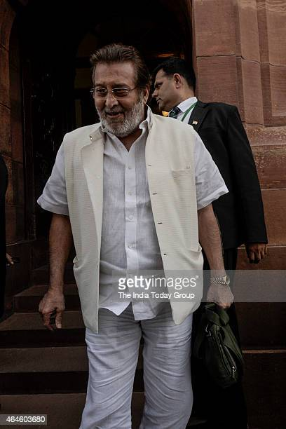 Vinod Khanna on the day tha Rail Budget was introduced in Parliament in New Delhi