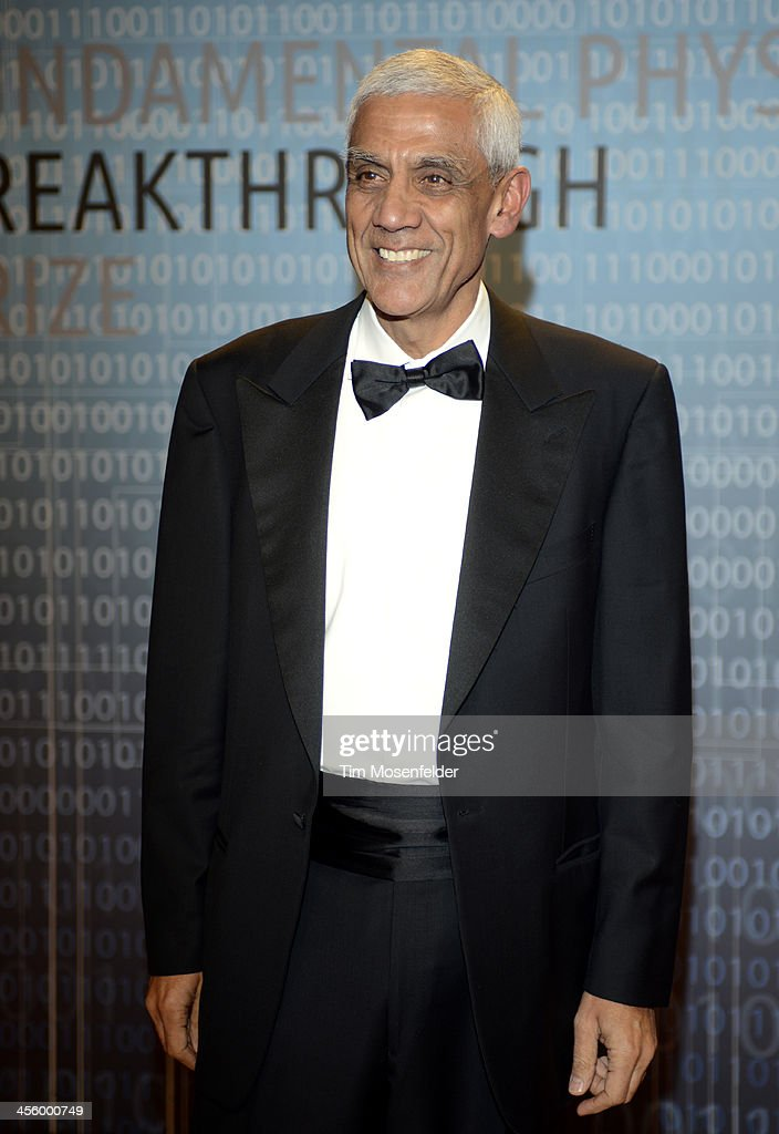 Vinod Khosta attends the Breakthrough Prize Inaugural Ceremony at Nasa Ames Research Center on December 12, 2013 in Mountain View, California.
