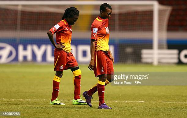 Vinoria Zuzagbe of Ghana looks dejected after losing the penalty shot out during the FIFA U17 Women's World Cup 2014 quarter final match between...