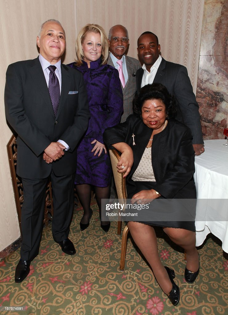 Vinson Cole, Deborah Voigt, George Shirley, Lawrence Brownlee and Martina Arroyo attend the Metropolitan Opera Guild's 78th Annual Luncheon Celebrating 'Star Power!' at The Waldorf=Astoria on December 4, 2012 in New York City.