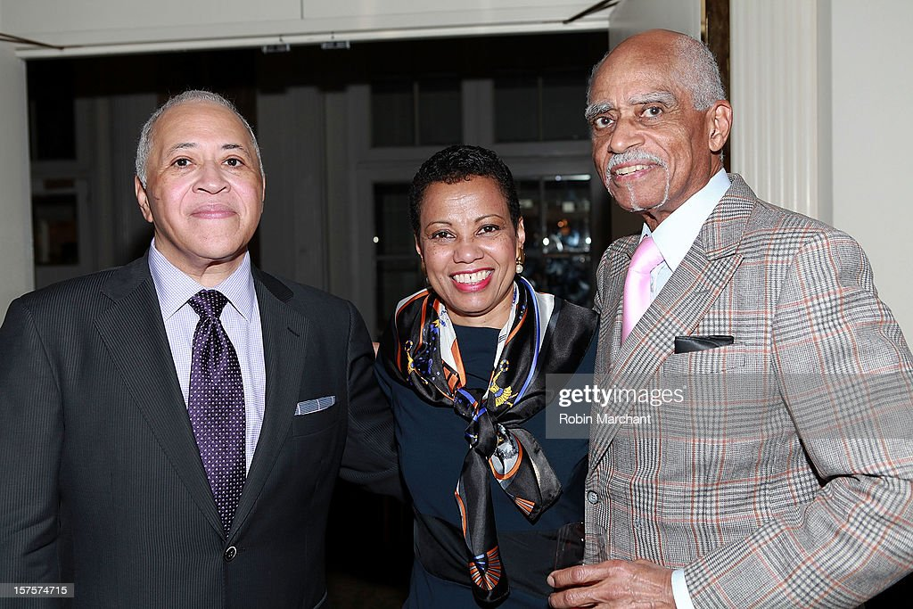 Vinson Cole, Harolyn Blackwell and George Shirley attend the Metropolitan Opera Guild's 78th Annual Luncheon Celebrating 'Star Power!' at The Waldorf=Astoria on December 4, 2012 in New York City.