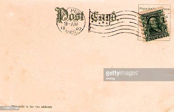 Vintage 1907 Postcard Back with United States Stamp
