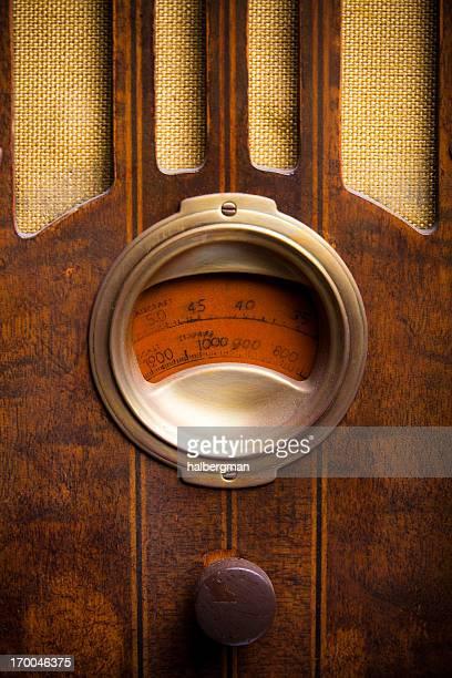 Radio en bois Vintage des années 1930