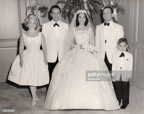 Vintage 1960 Wedding Family Portrait