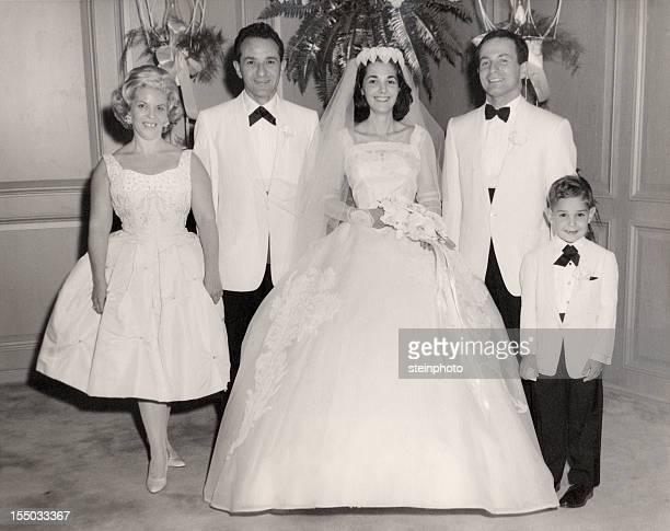 Vintage 1960 mariage Portrait de famille