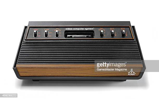 A vintage 1970's Atari 2600 video game console photographed on a white background taken on March 26 2009