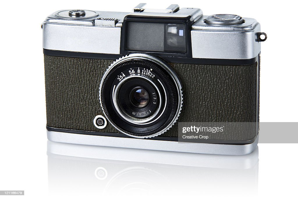 Vintage 35mm film camera : Stock Photo