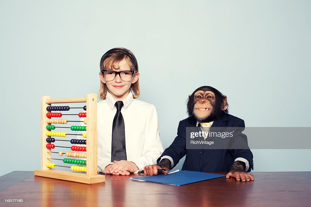 Vintage Accounting Team : Stock Photo
