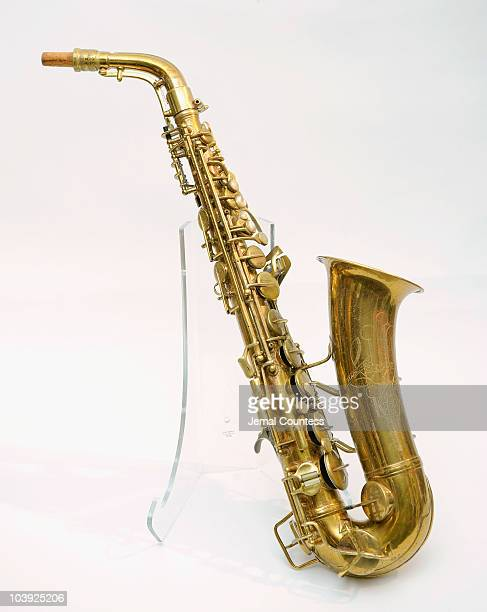Vintage Alto Saxaphone owned by Charlie Parker on display during Guernsey's Auction House Preview of the upcoming auctions Iconic Objects and Antique...