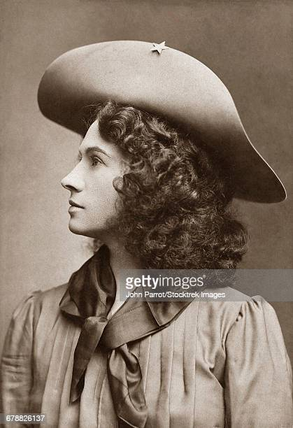 Vintage American history photo of American sharpshooter, Annie Oakley.