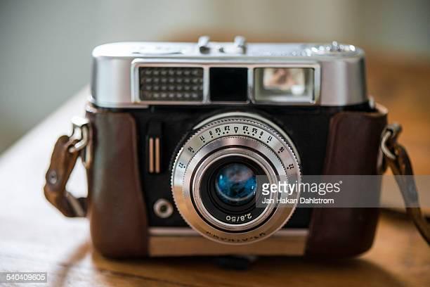 Vintage analog rangefinder camera