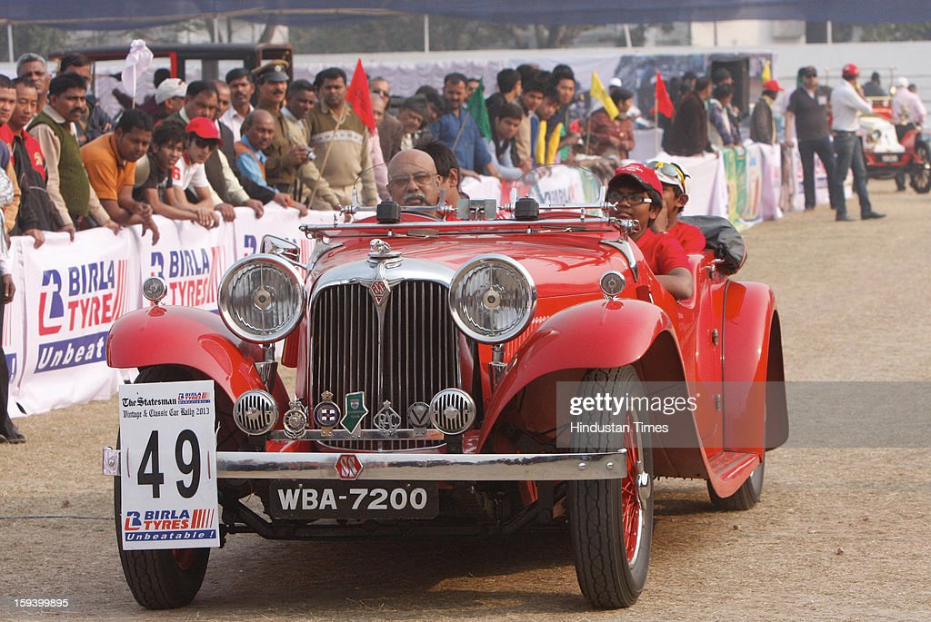 Vintage and classic car rally on January 13, 2013 in kolkata, India.