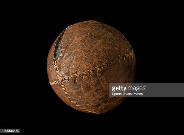 Vintage Antique Baseball Early turn of the century lemon peel style baseball Features leather exterior