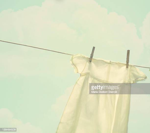 Old fashioned clothes line