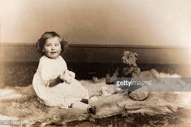Vintage Baby ragazza Ritratto