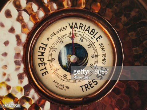 Vintage barometer : Stock Photo