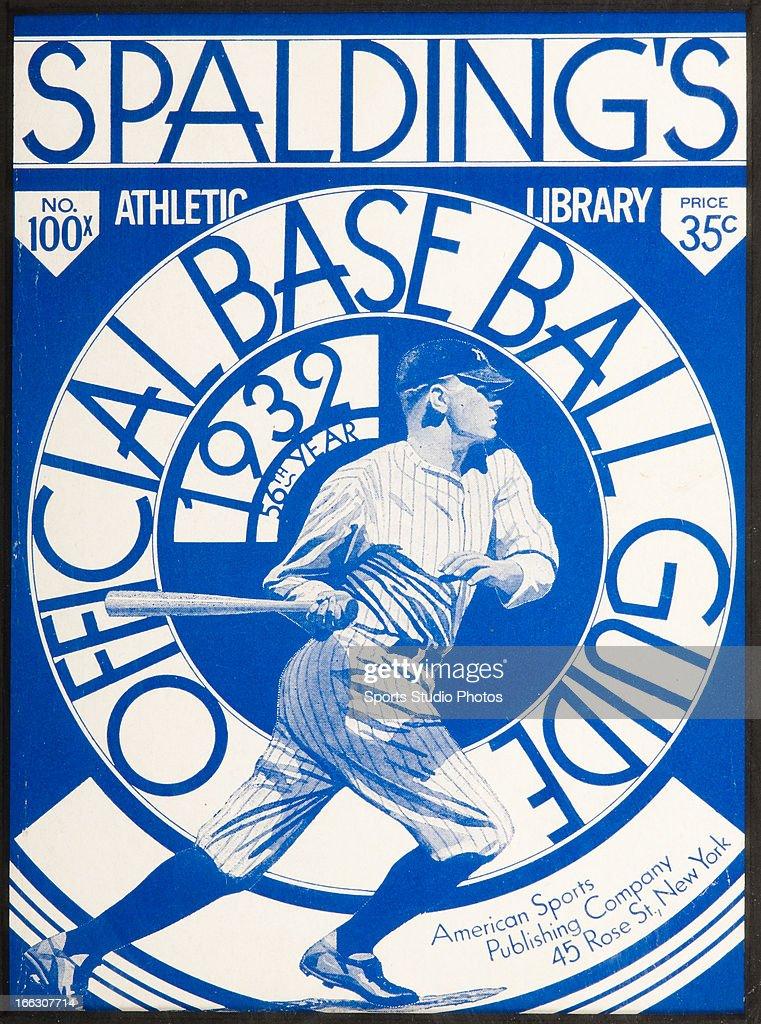 Vintage baseball equipment catalog. 1932 Spalding baseball equipment catalog cover with likeness of Babe Ruth.