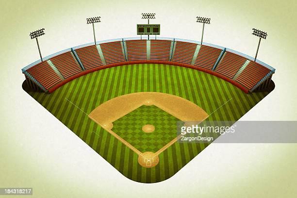 Vintage baseball field