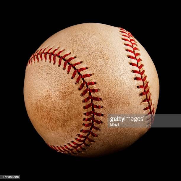 Vintage baseball isolated on black