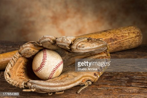 Vintage baseball memories : Stock Photo