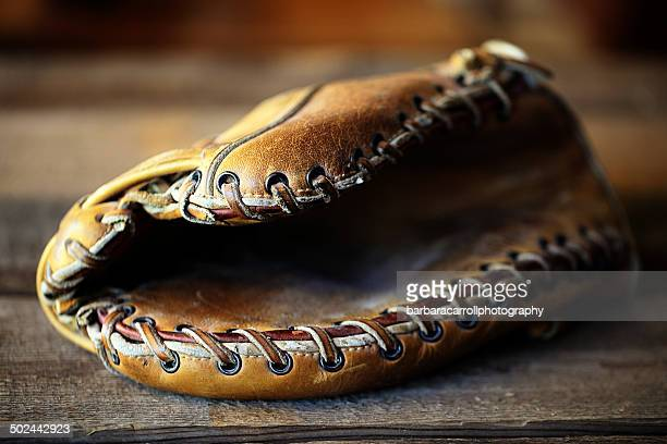 Vintage baseball mitt