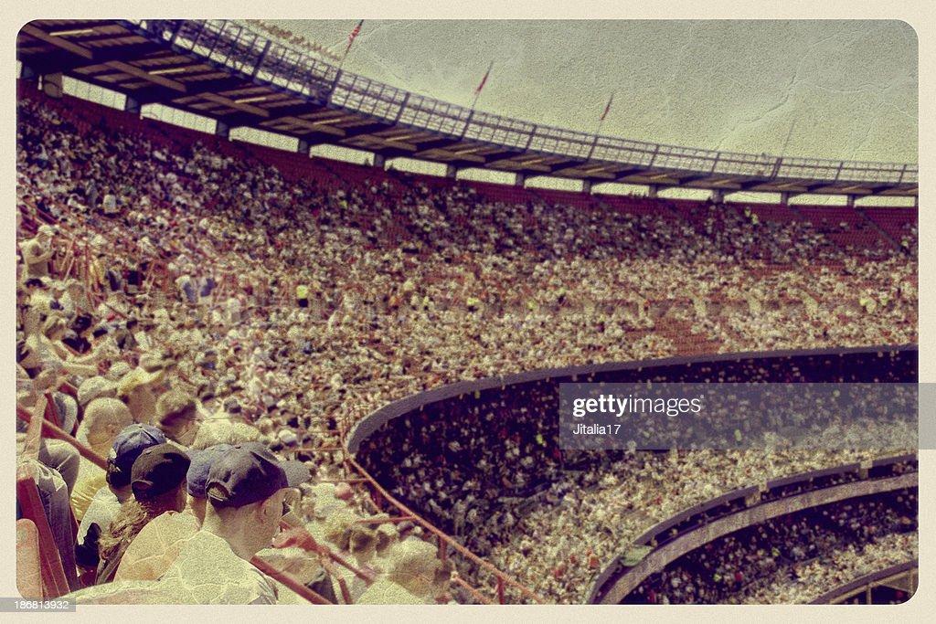 Vintage Baseball Stadium Postcard : Stock Photo