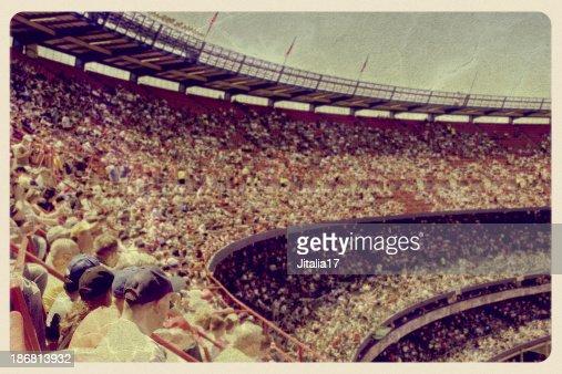Vintage Baseball Stadium Postcard
