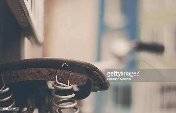 Vintage bike leaning