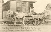 Bootlegger's HorseDrawn Cart The Over Land Limited From Spillville To Protivin Daily Except Sundays Since Protivin Went Dry