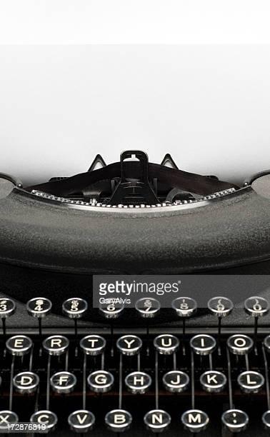 Vintage black typewriter w/paper for text