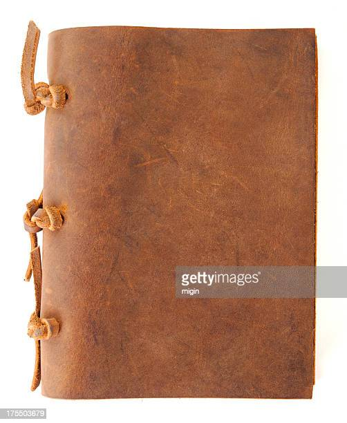Vintage book with leather cover.