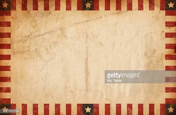 Vintage Bordered Patriotic Paper XXXL