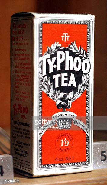 Vintage box of Typhoo tea A brand of tea from the United Kingdom that launched in 1903 by John Sumner Jr of Birmingham England