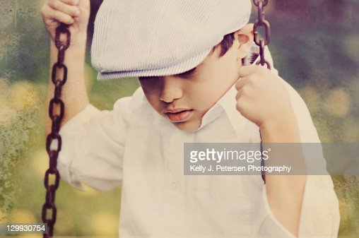 Vintage Boy : Stock Photo