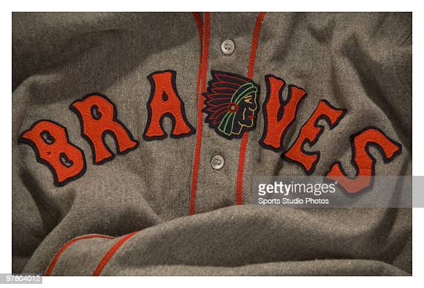 Vintage Braves jersey photographed in the studio on March 17 2010 in Los Angeles California