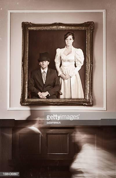 Vintage Bride and Groom Spirits