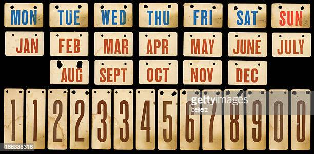 Tarjetas vintage calendario