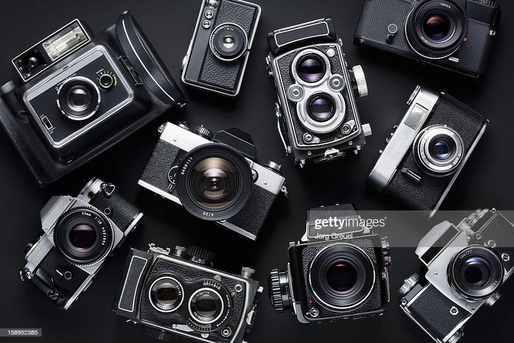 Vintage cameras : Stock Photo