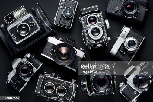 Vintage cameras : Foto stock
