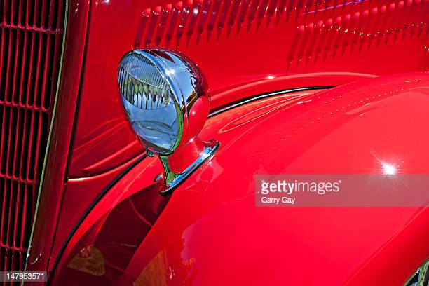 Vintage car, fender and headlight