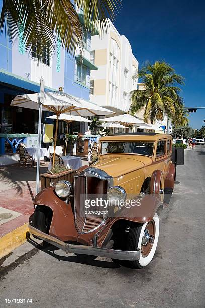 Vintage Car on Ocean Drive, Miami