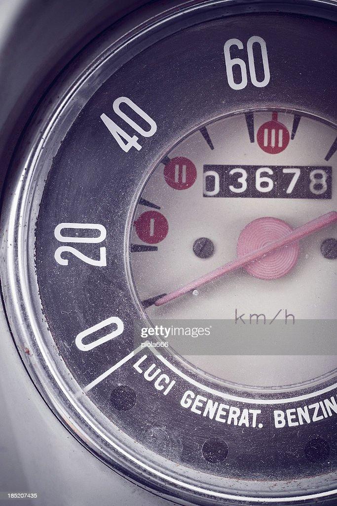 Vintage Car Speedometer and Instrument Panel