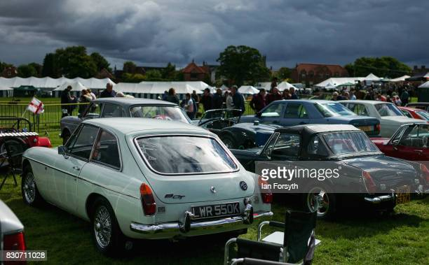 Vintage cars are displayed during the 194th Sedgefield Show on August 12 2017 in Sedgefield England The annual show is held on the second Saturday...