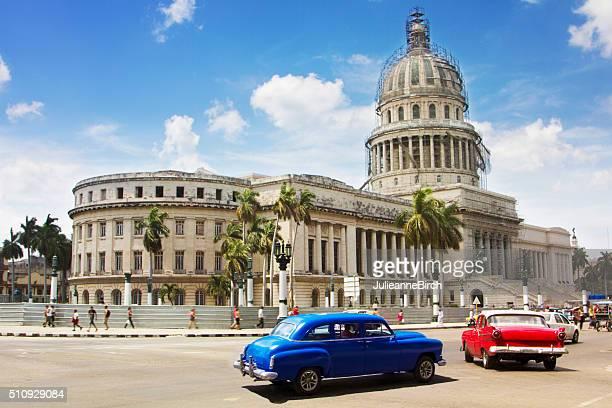 Vintage cars in the city of Havana, Cuba