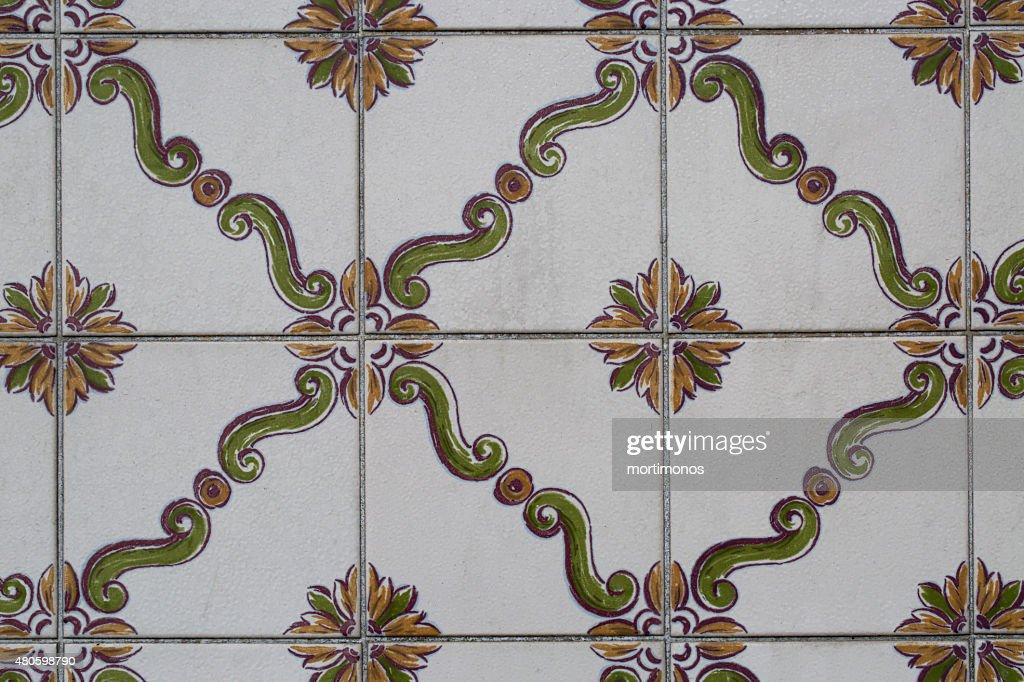 vintage ceramic tile : Stock Photo