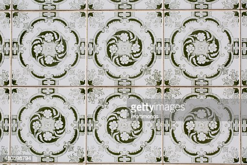 vintage ceramic tile : Stock Photo