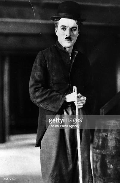 Vintage Charles Spencer Chaplin the English film actor and director in his best known role