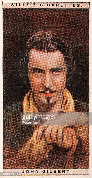 A vintage cigarette card featuring the cinema star John Gilbert circa 1928