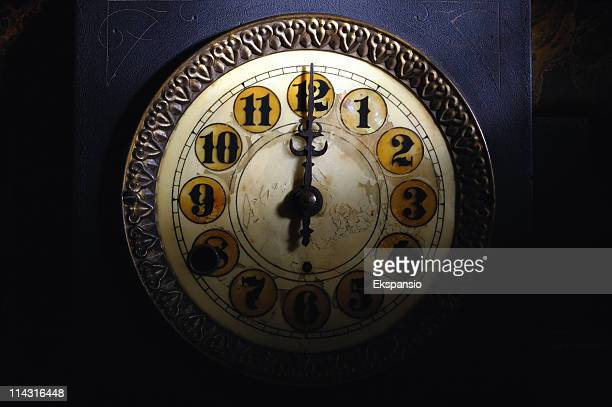 Vintage Clock Striking 12